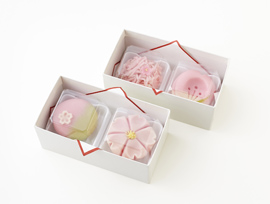 桜の上生菓子の詰め合わせ商品
