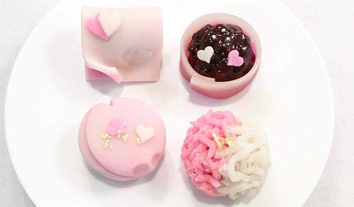 バレンタインデー限定上生菓子 2月1日(金)より店頭に並びます
