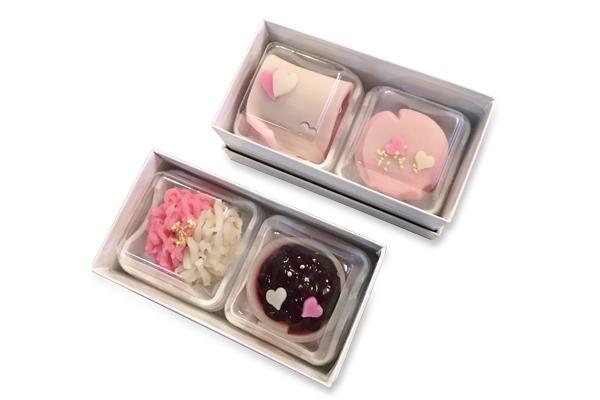 バレンタイン限定上生菓子(4種) 2月2日(金)から店頭に並びました