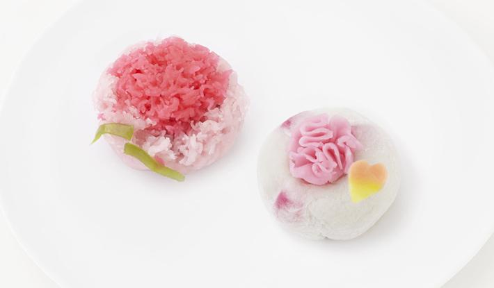 母の日限定上生菓子 4月28日(木)より店頭に並びます