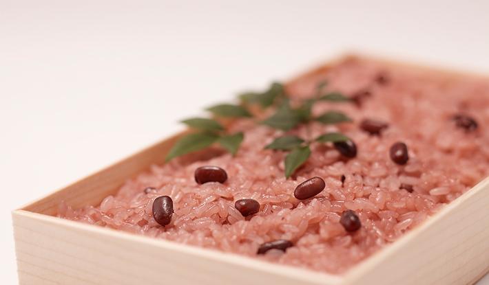 成人式お祝い お赤飯と紅白薯蕷饅頭 ご注文承り中